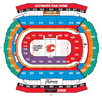 Calgary Flames Ice Hockey Seating Chart